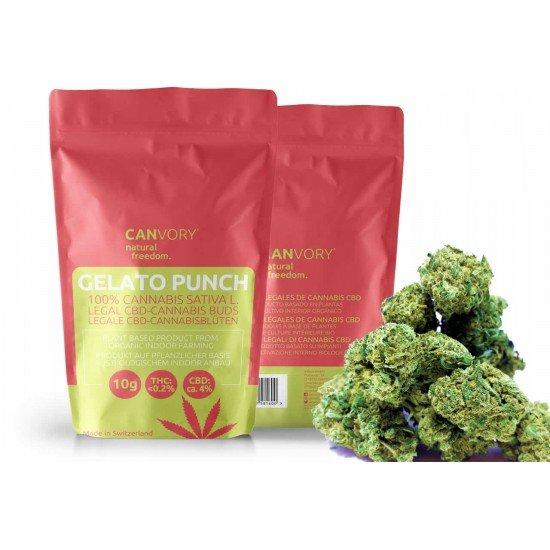 Gelato Punch - 4% CBD Cannabidiol Cannabis Buds, 4 gram